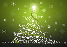 Free Green Christmas Tree Background Royalty Free Stock Images - 17063069