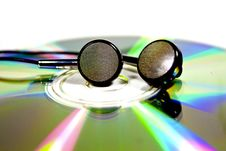 Free Disk And Earphones Royalty Free Stock Image - 17063246