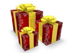Free Christmas Gift Boxes Royalty Free Stock Photos - 17063638