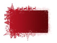 Free Red Christmas Frame With Text Area Royalty Free Stock Image - 17064606