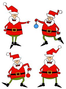 Free Happy Santa Claus Over White. Royalty Free Stock Photo - 17064785