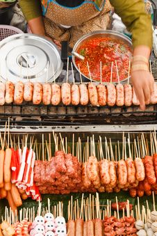 Free Thai Style Sausage Royalty Free Stock Images - 17064789