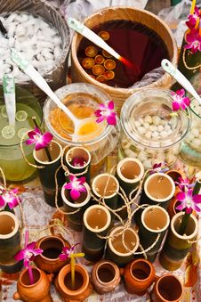 Free Colorful Thai Style Drink. Stock Image - 17064831