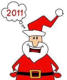 Free Happy Santa Claus Over White. Stock Photo - 17064970