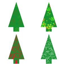 Free Christmas Tree On White Background Stock Images - 17065044