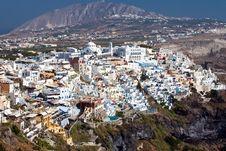 Free Panoramic View Of Fira, Santorini Royalty Free Stock Photography - 17065377