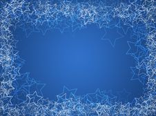 Free Winter Christmas Frame With Stars Stock Images - 17065404