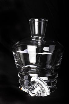 Free Empty Decanter With Lid Royalty Free Stock Photography - 17065717