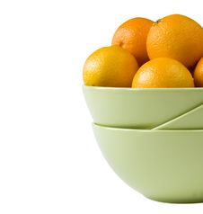 Free Part Of A Bowl With Tangerines Stock Image - 17065751