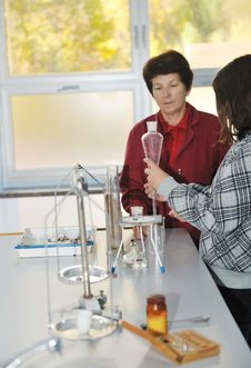 Free Science And Chemistry Classees At School Stock Photo - 17065900