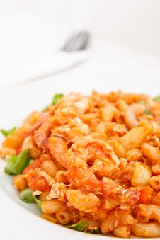 Free Macaroni Fried And Shrimp Stock Photos - 17065993