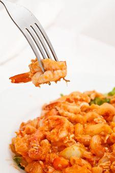Free Macaroni Fried And Shrimp Stock Photography - 17066012