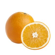 Free One And Half Oranges On White Background Royalty Free Stock Images - 17066049