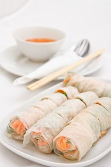 Free Vegetable Rolls In Vietnamese Style Stock Photos - 17066133