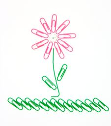 Free Flower From Paper Clips Royalty Free Stock Image - 17066676