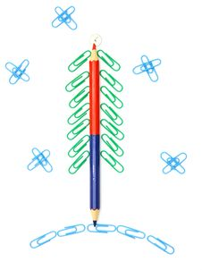 Free Paper Clip Christmas Tree Stock Photography - 17066712