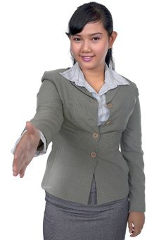 Free Business Woman Shake Hand Stock Photo - 17066810