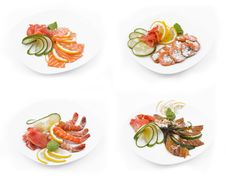 Free Preparation Of A Fish Set Royalty Free Stock Image - 17066876