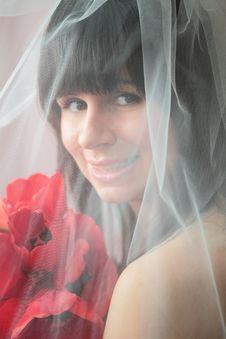 Free Bride With Tulips Stock Photo - 17067560