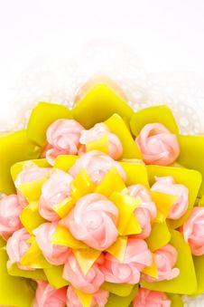 Colorful Thai Style Native Dessert Stock Photos