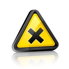 Free Hazard Warning Sign With Irritant Symbol Stock Photo - 17068640