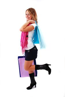 Free Shopping Girl Stock Photography - 17068972