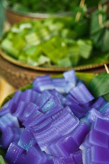 Colorful Thai Style Native Dessert Royalty Free Stock Photos