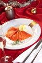 Free Smoked Salmon For Christmas Stock Photo - 17077190