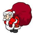 Free Santa Claus With Big Sack Stock Image - 17077431