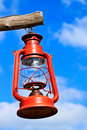 Free Old Red Lantern On Blue Sky Stock Images - 17078224