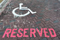 Free Reserved Parking Lot For The Handicap Stock Image - 17079991