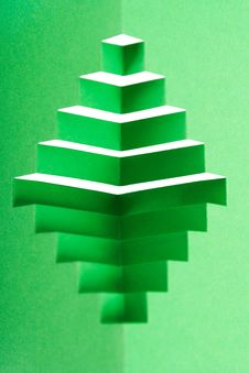 Abstract Green Paper Composition Royalty Free Stock Images