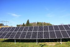 Solar Power Station In The Nature Royalty Free Stock Photography