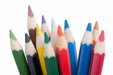 Free Stack Of Colored Pencils, Close-up Royalty Free Stock Image - 17071406
