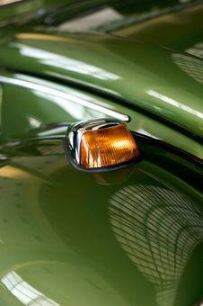 Free Direction Light On Old Car Stock Image - 17071411