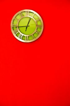 Free Clock On Colorfull Wall Stock Image - 17071881