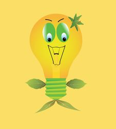 Free Eco Light Bulb Royalty Free Stock Image - 17072146