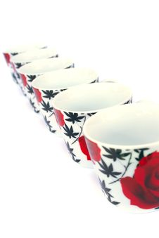 Free Cups On White Stock Photo - 17072820