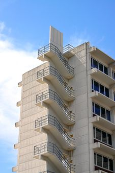 Free Fire Escape Stairs On Office Building Royalty Free Stock Photography - 17072867