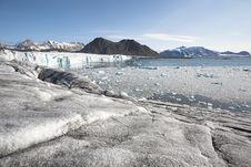Free Arctic Landscape - Glacier And Mountains Stock Photo - 17073190