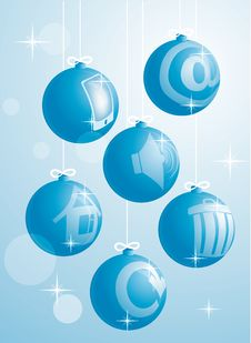 Free New Year Balls-icons Royalty Free Stock Images - 17073639