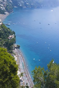 Free View On The Beach On The Amalficoast Royalty Free Stock Photos - 17074568