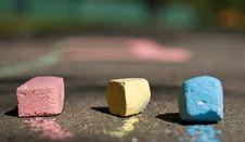 Free Colorful Chalk On Asphalt Stock Photos - 17075063