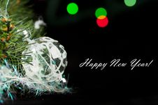 Free Black Christmas Card Royalty Free Stock Photo - 17075315