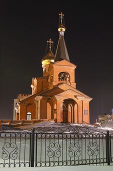 Piously-Vvedensky Church, Dudinka Royalty Free Stock Images