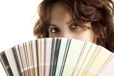 Free Woman With Color Swatch Royalty Free Stock Image - 17075806