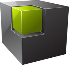 Free Black Cube. Stock Images - 17075824