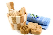 Free Soap And Towels Royalty Free Stock Image - 17075976