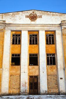 Abandoned Army Barracks Stock Photo