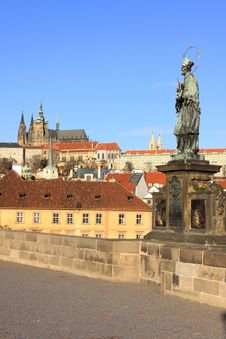 Free View On The Summer Prague Gothic Castle Royalty Free Stock Photography - 17076277